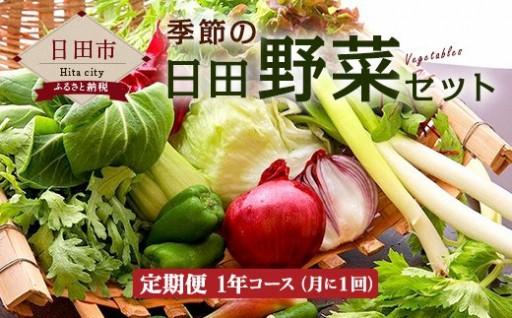 【定期便1年コース】季節の日田野菜セット【毎月届く】