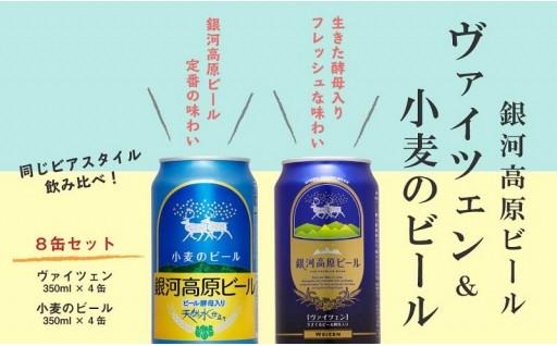 銀河高原ビール ヴァイツェン&小麦のビール飲み比べセット