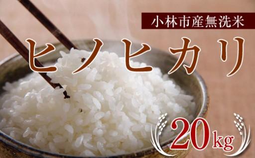 【無洗米20キロ!】小林市産ヒノヒカリをずっしりお届け♪
