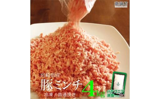 <宮崎産豚ミンチ4kg+塩>