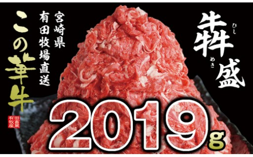 【2019g】有田牧畜産業 牧場直送 この華牛 犇めき盛