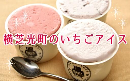 いちご農家が作る、果実をふんだんに使ったアイスクリーム。