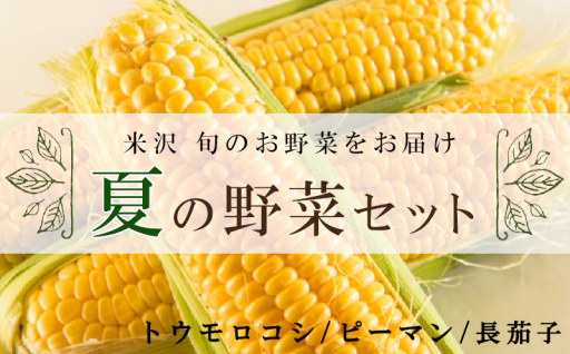 もうすぐ夏!米沢の夏野菜セットでBBQはいかがですか?