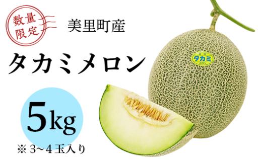 【甘くて美味しい♪】タカミメロン1箱(3~4玉入)