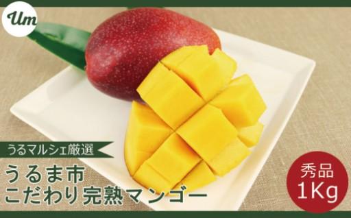【秀品】うるま市産こだわりマンゴー1キロ【うるマルシェ厳選】