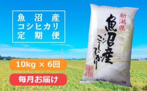 毎月新潟のお米が届く!10kg×6回の魚沼産コシヒカリ定期便