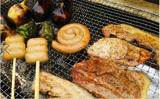 厚切り肉をバーベキューで豪快に焼きましょう!