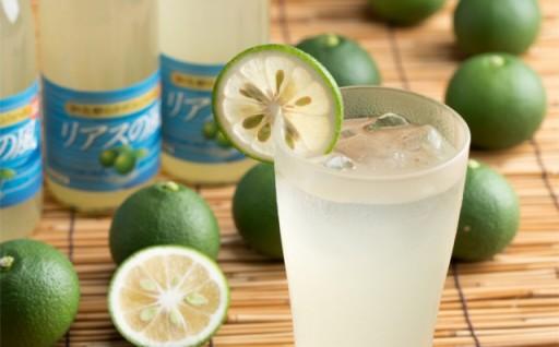 氷で割ってキンキンで飲むと最高!かぼすジュース「リアスの風」
