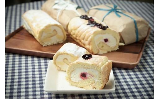 自家製無農薬てんさい糖を使用したふかふかのロールケーキです!