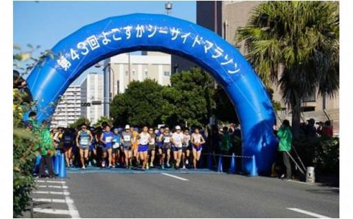 海沿いのコース♪よこすかシーサイドマラソン出走権です