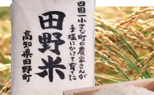 予約受付中【四国一小さな町の新米】令和元年産 田野米 5kg