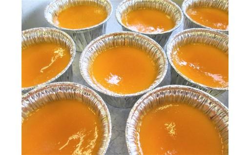 地元野菜で作った2種類のかぼちゃプリンのセットです!