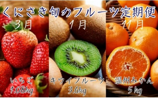 みかん・キウイ・いちご!旬のフルーツ定期便※3回発送