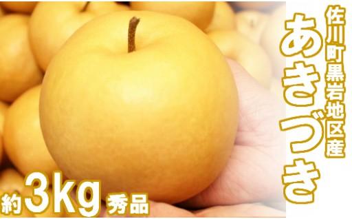 【9/12まで受付中】あきづき梨(約3kg/4-6玉)