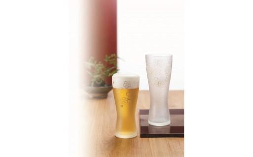 オシャレなビアグラス(ペア)で冷たい一杯を飲みませんか