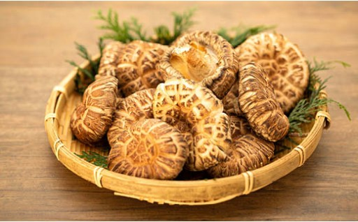 里山で、天然ミネラルたっぷり吸収し育った椎茸(乾燥椎茸)