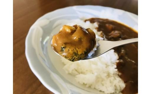 北海道広尾産のツブがたっぷり入った贅沢カレー
