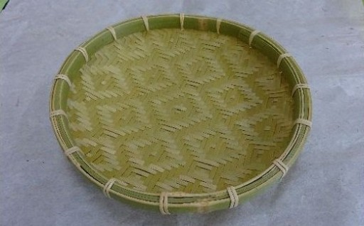熟練された技の成せる逸品!完全竹製の手編みザル