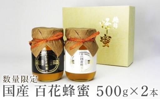 【数量限定】国産百花蜂蜜ギフト 500g×2本【希少品】