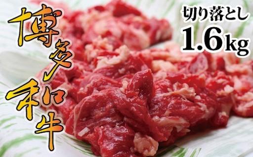 博多和牛をたっぷり!切り落とし1.6kg!