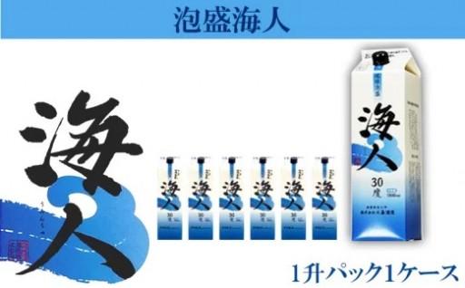 <まさひろ酒造>泡盛海人(うみんちゅ)1升パック1ケース