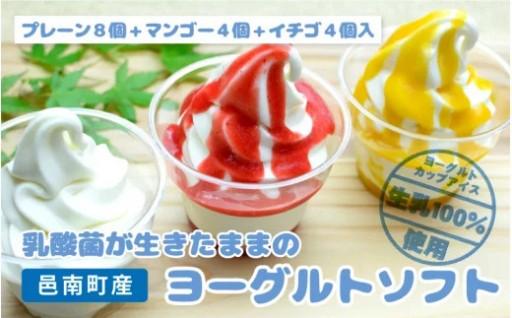 生きてる乳酸菌のヨーグルトで作ったカップアイス3種16個