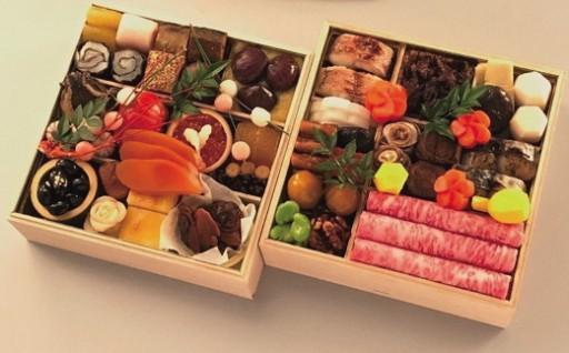 数量限定!柿安本店の料亭おせち二段重と松阪牛すき焼セット