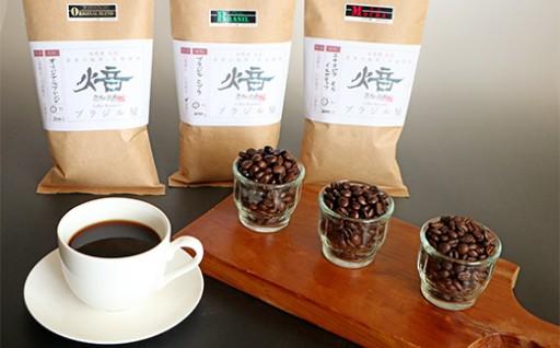 ブラジル屋 自家焙煎コーヒー3種セット