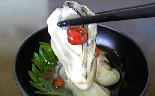 厚岸の新鮮な牡蠣を生のまま塩辛にしました!