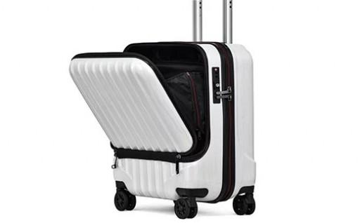 フロントオープン スーツケース  Sサイズ(シャンパン)