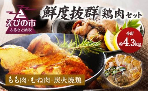 えびチャン本店 鮮度抜群 鶏肉 セット 合計4370g 新鮮