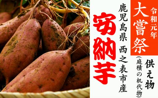 令和元年大嘗祭 西之表市産【安納芋】が供え物として献上