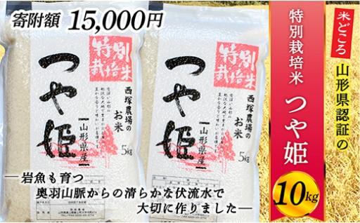 山形県最上町産 特別栽培米つや姫10㎏