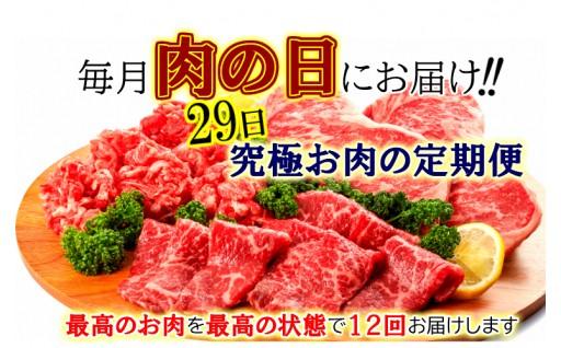 肉(29)の日にお届けする究極お肉の定期便/計12回発送