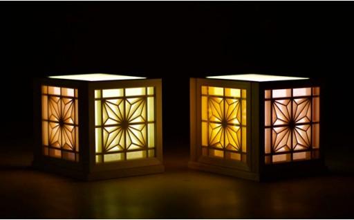 【手作りの優しい灯り】組子細工の和モダンランプ♪