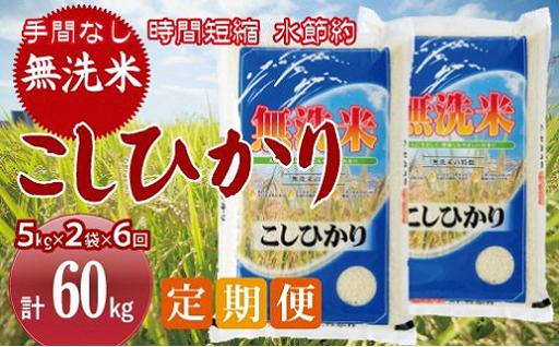 手間なく美味しい「無洗米コシヒカリ6回定期便」