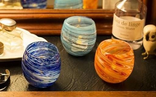 琉球ガラス PLANET サイズ6.5cm×H8.5cm