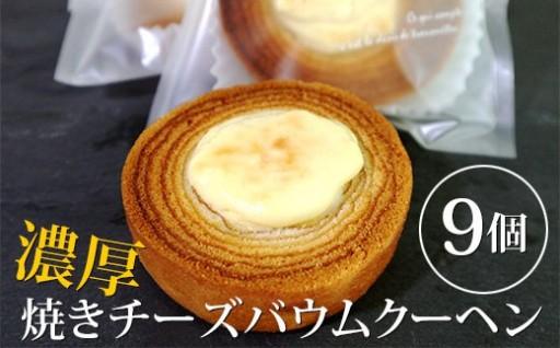 新感覚!?濃厚焼きチーズバウムクーヘン9個