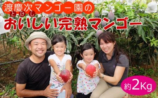 渡慶次マンゴー園の完熟マンゴー2Kg【2020年発送】