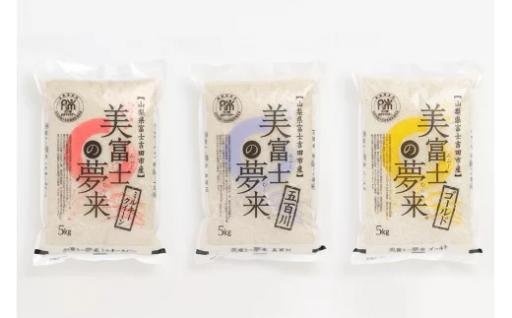 【定期便3ヶ月連続お届け】美富士の夢来 食べ比べセット3種