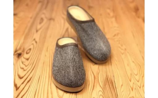 吉田の織物で仕立てた足に優しいルームシューズ(女性サイズ)