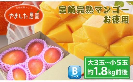 宮崎完熟マンゴーお徳用1.8kg!