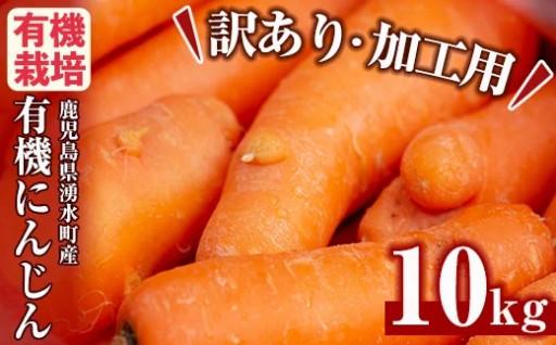 ジュース用有機にんじん(10kg)≪訳あり≫