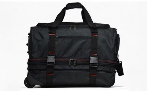 ボストンキャリー スーツケース  L(ブラック×レッド)