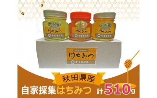 アカシア・トチ・りんごのはちみつ3種セット【安士養蜂園】
