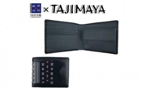 【たじま屋】知花花織 2つ折財布ネイビー<TA-003>