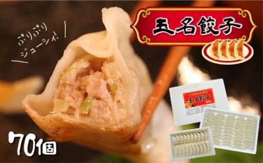 タレなし 肉汁溢れる『玉名餃子 』70個(50個+20個)