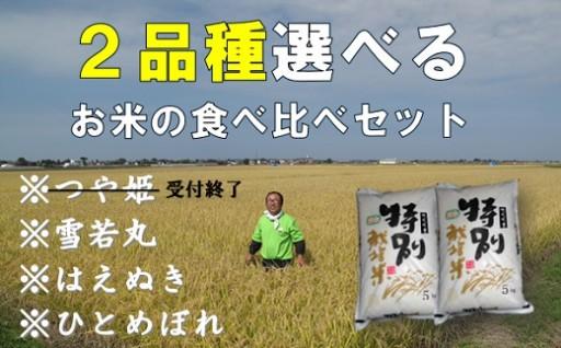 お好きなお米2品種選べる!嬉しい食べ比べセット♪