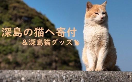 深島の猫へ寄付と深島猫グッズ (大分県佐伯市)