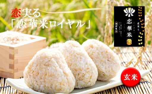 【玄米】レンゲ草で減農薬栽培。恋実る「恋華米ロイヤル」5kg